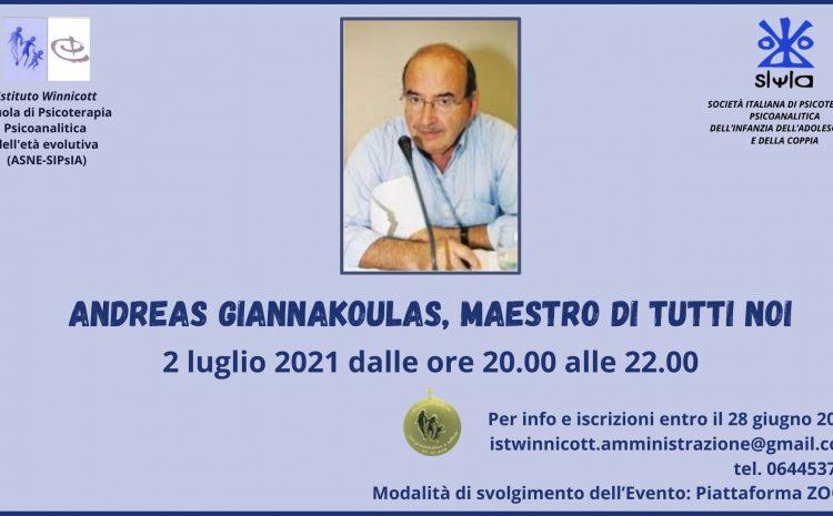 Andreas Giannakoulas, maestro di tutti noi
