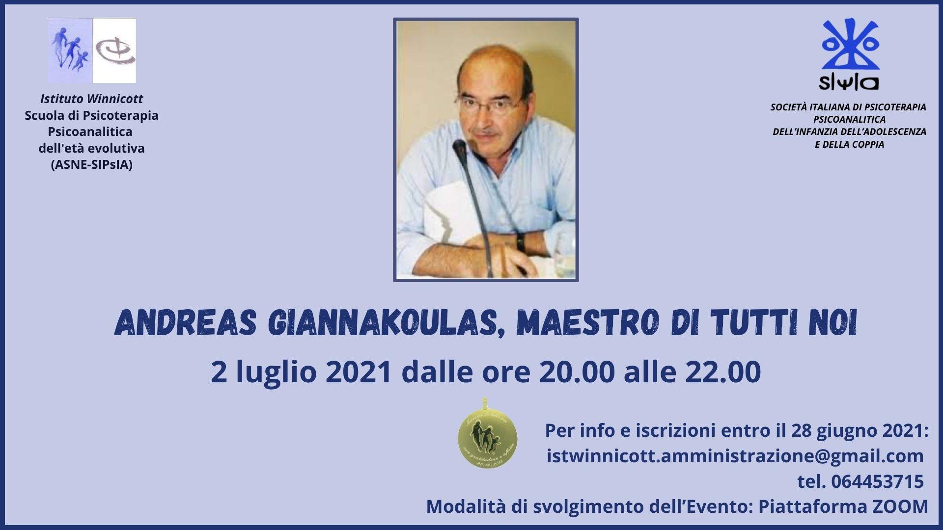 Serata dedicata ad  Andreas Giannakoulas