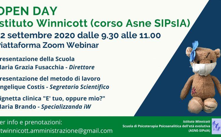 OPEN DAY Istituto Winnicott (Corso Asne SIPsIA)